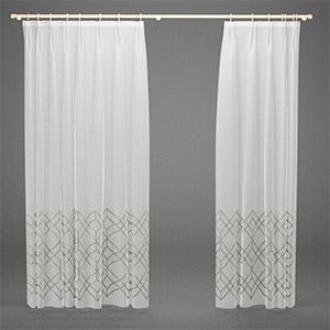 窗户纱帘3D模型-0302F7