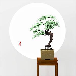 新中式植物松树盆栽3D模型-1007P75