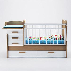 北欧儿童床3D模型-1402C4
