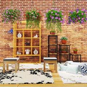 吊篮花盆植物3D模型-1007P82