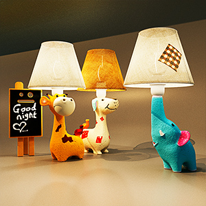 现代儿童动物台灯3D模型-0205T15