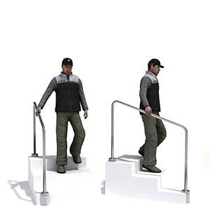 下楼梯的男人3D模型-0801N32
