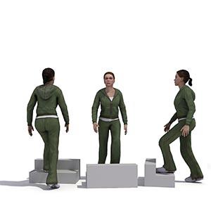 上楼梯的女人3D模型-0802N33