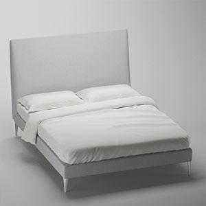 双人床3D模型-0317H25