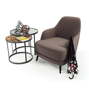 单人沙发3D模型-010201S25