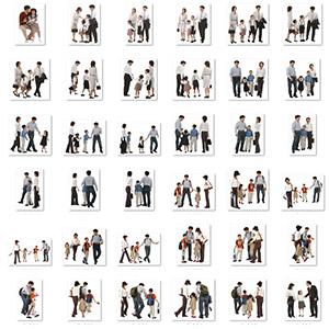 家庭人物PNG平面素材-0601R45