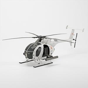 AH-6J Little Bird轻型攻击直升机3D模型-1105JZ14