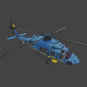 救援直升机3D模型-1105JZ17