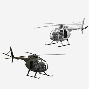 oh-6印第安种小马侦察直升机3D模型-1105JZ19