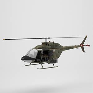 OH-58基奥瓦侦察直升机3D模型-1105JZ20