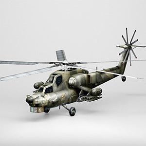 米-28直升机3D模型-1105JZ23