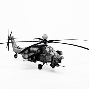 米-28直升机3D模型-1105JZ22