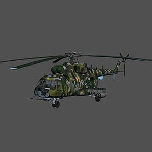 米-17直升机3D模型-1105JZ24