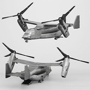 V-22倾转旋翼机3D模型-1105JZ25