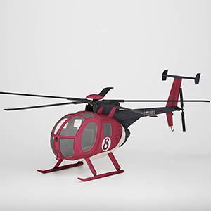 新闻直升机3D模型-070501F1
