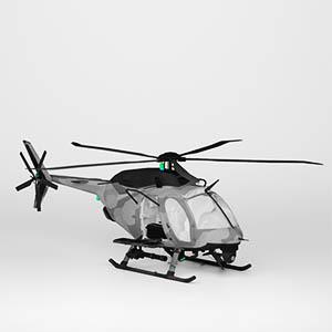 侦察直升机3D模型-1105JZ28