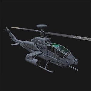 攻击直升机3D模型-1105JZ29