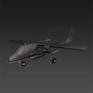 野马轻型攻击侦察机3D模型-1103F39