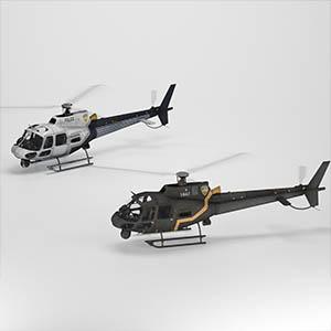 警用直升机3D模型-1105JZ31