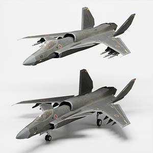震电2战斗机3D模型-1103F48