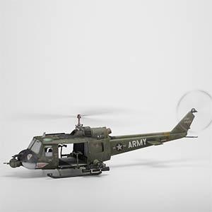 贝尔UH 1休伊直升机3D模型-1105JZ34