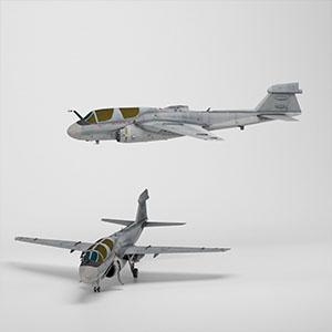 EA-6B电子战飞机3D模型-1103F52