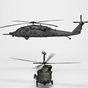 MH-60黑鹰直升机3D模型-1105JZ36