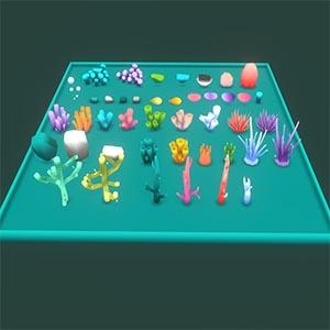 珊瑚礁植物3D模型-1011H1