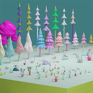 卡通树植物3D模型-1011H2
