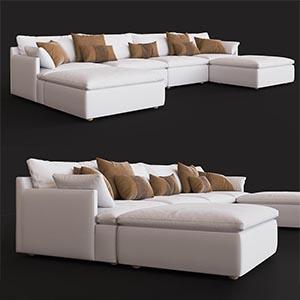 沙发组合3D模型-010205S34