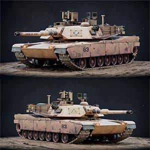 M1A2主战坦克3D模型-1101T4