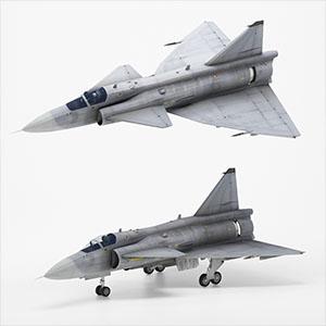 萨博-37战斗机3D模型-1103F61
