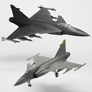 JAS-39C战斗机3D模型-1103F62
