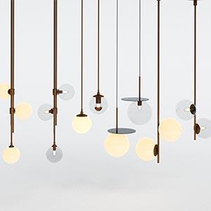 吊灯3D模型-0202D52