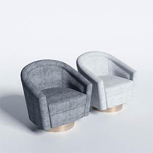 单人沙发3D模型-010201S28