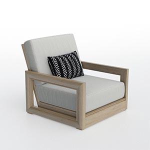 单人沙发3D模型-010201S30