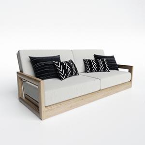 双人沙发3D模型-010202S31