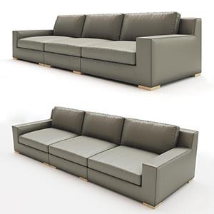 三人沙发3D模型-010203S46