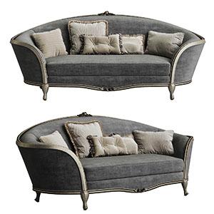 三人沙发3D模型-010203S47