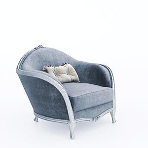 单人沙发3D模型-010201S32
