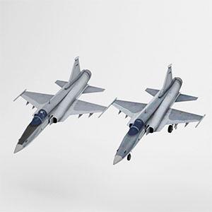 F-20喷气式战斗机3D模型-1103F68
