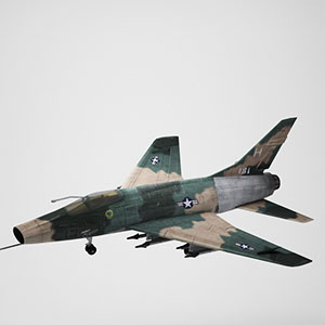 F-100喷气式战斗机3D模型-1103F69