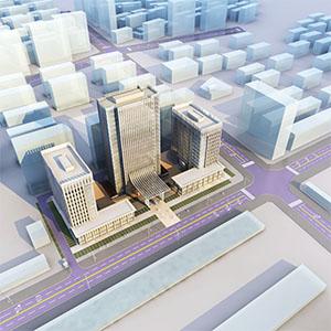 霍尔果斯文旅大厦3D模型-1701Z2