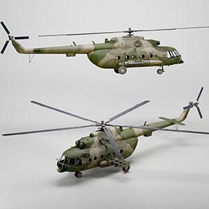 Mi17V5军用直升机3D模型-1701Z2