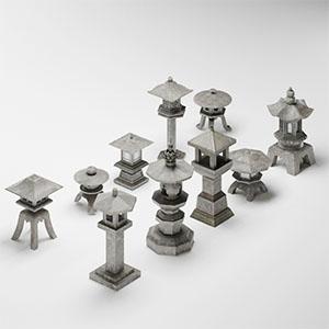 石灯3D模型-0208M3