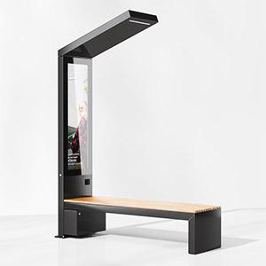 智能户外站牌灯3D模型-0208M5