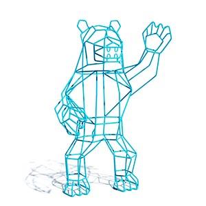 金属熊摆件3D模型-0303B106