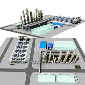 24万吨PMMA装置化工厂3D模型-1703G1
