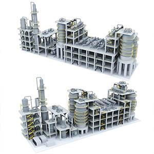 双酚A装置化工厂3D模型-1703G2