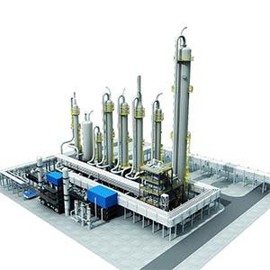 醋酸乙烯装置化工厂3D模型-1703G3